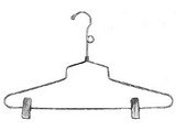 Wire Clothes Hangers are sleek and durable. We have a variety of styles of wire clothing hangers to meet your store display needs: Shirt Hangers, Skirt Hangers, Coat Hangers, Pant Hangers, Trouser Hangers, Suit Hangers and Dress Hangers. Our Wire hangers are chrome plated Heavy Duty 10 Gauge wire. We offer a thinner dry cleaner style hangers that are 13 gauge. These wholesale hangers are also available with special bulk hanger pricing for large quantity requests.
